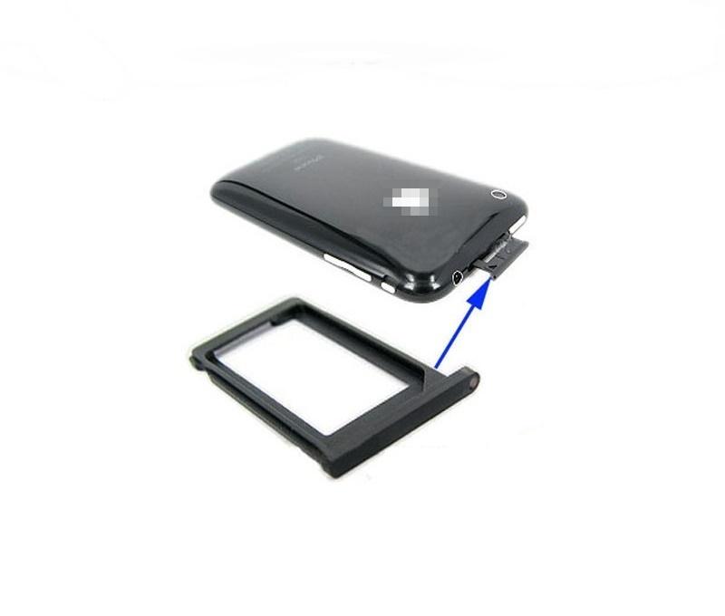 pi ce de rechange plateau support porte carte sim pour iphone 3gs noir ebay. Black Bedroom Furniture Sets. Home Design Ideas