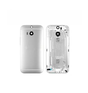 CHASIS CUERPO CENTRAL PARA HTC ONE M8 / M8S PLATEADO